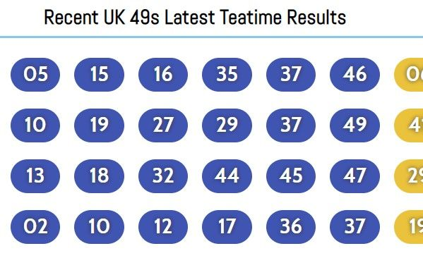 49s Results. Happy Playing Uk 49s!